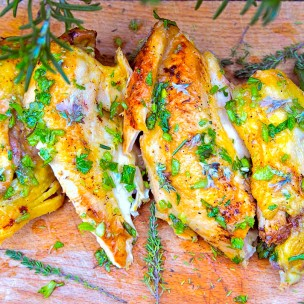 sq lavender & honey glazed chicken