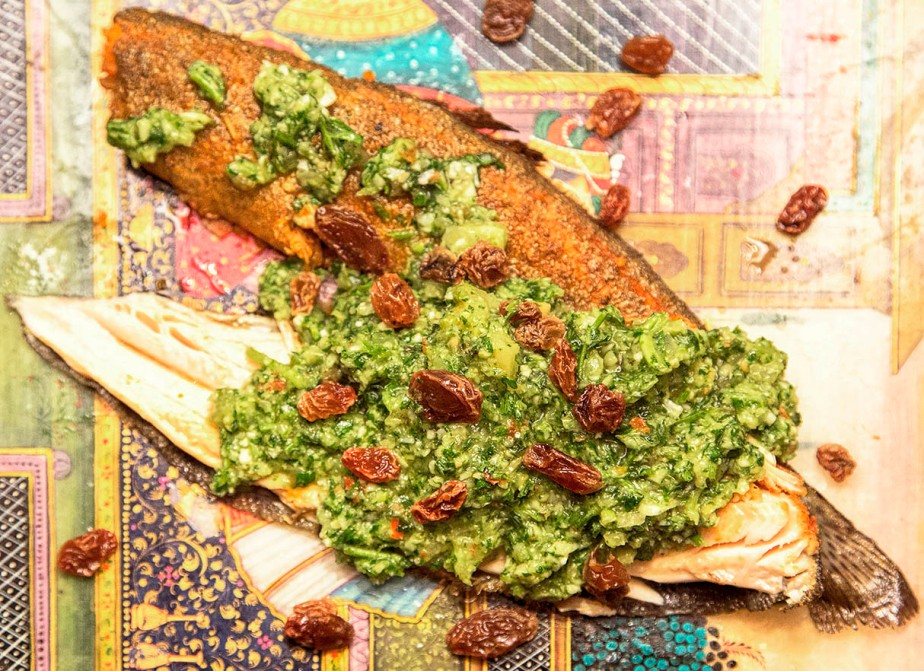 roasted trout with chermoula 1